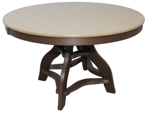 Round Amish Polylumber Table