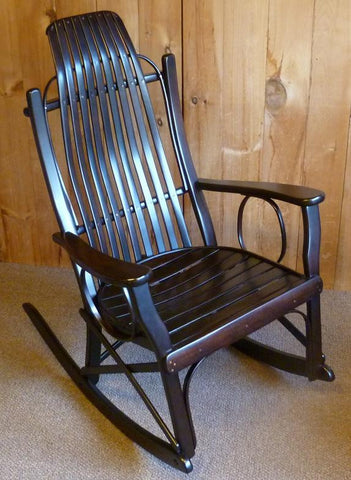Cherry Flat-Arm Rocker
