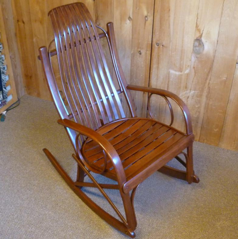 Cherry Round-Arm Rocker