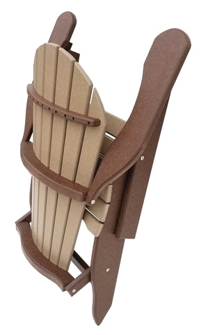 Folding Comfy-Back Adirondack Chair