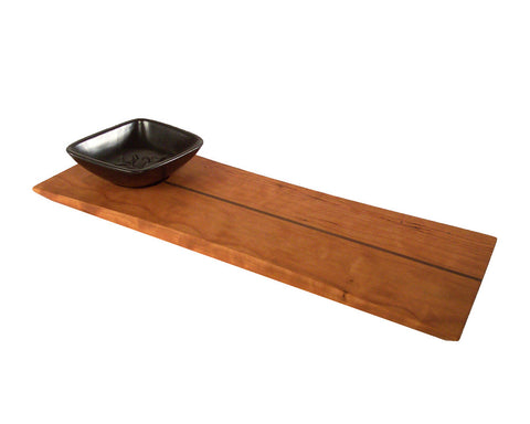 East of Appalachia Servingboard with Black Dipping Bowl