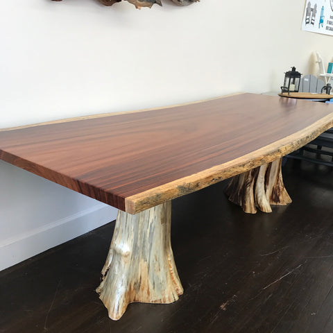 Guanacaste Dining/Conference Table with Cedar Stump
