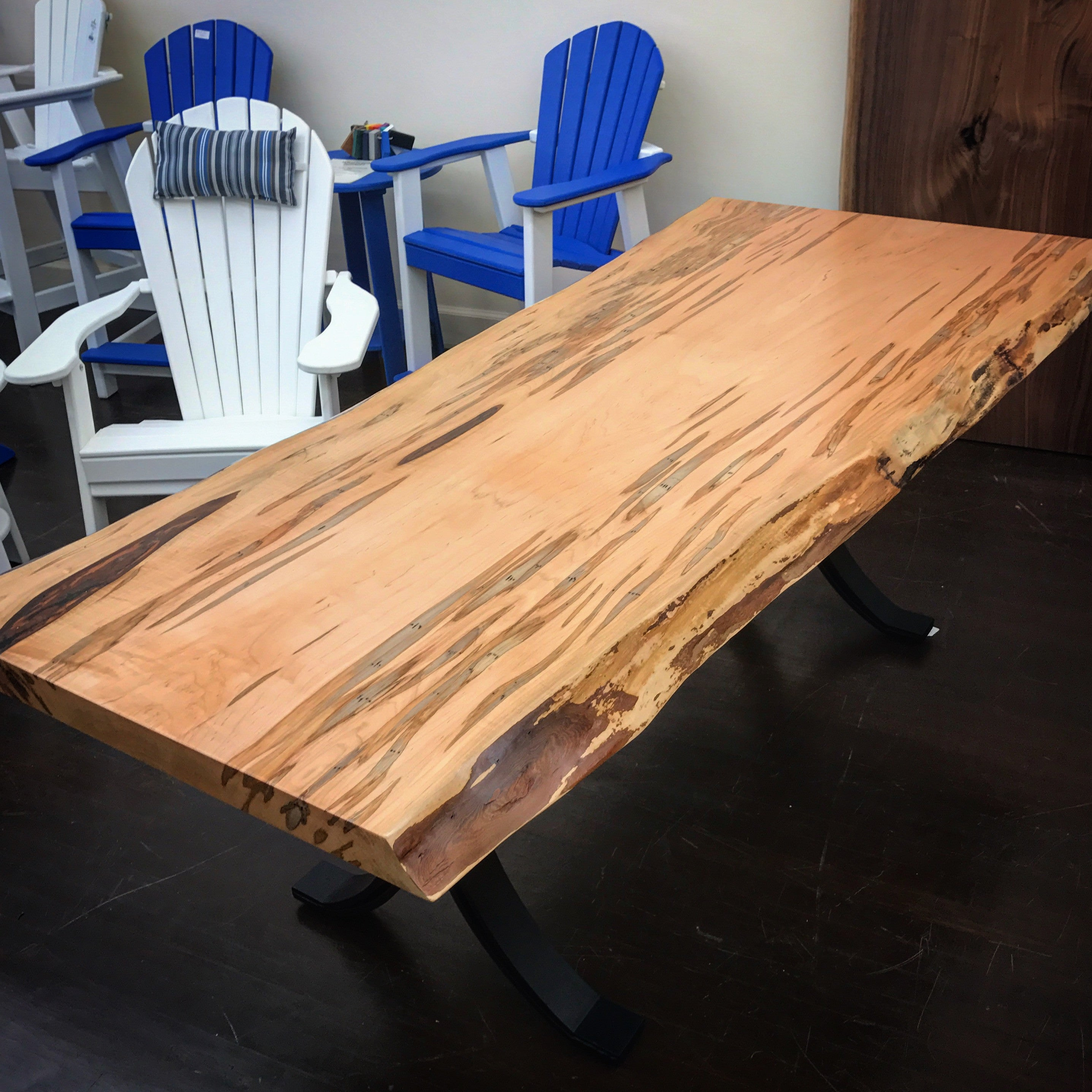 Wormy Maple Live Edge Table  34