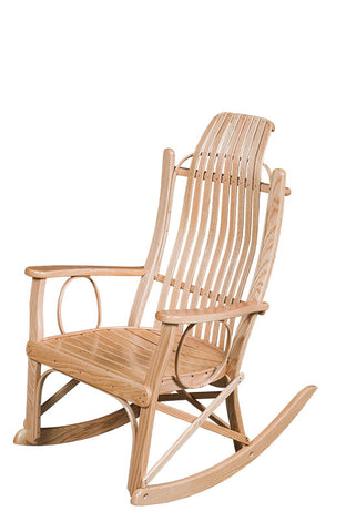 Oak Flat-Arm Rocker