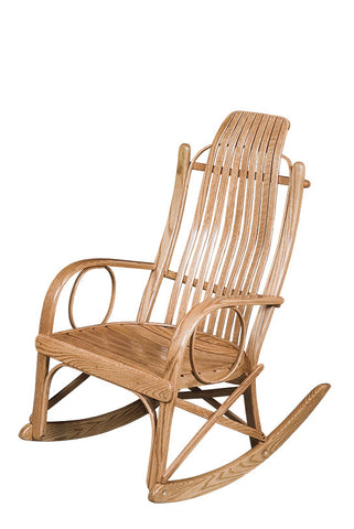 Oak Round-Arm Rocker