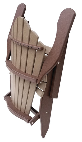 Folding Daisy-Back Adirondack Chair