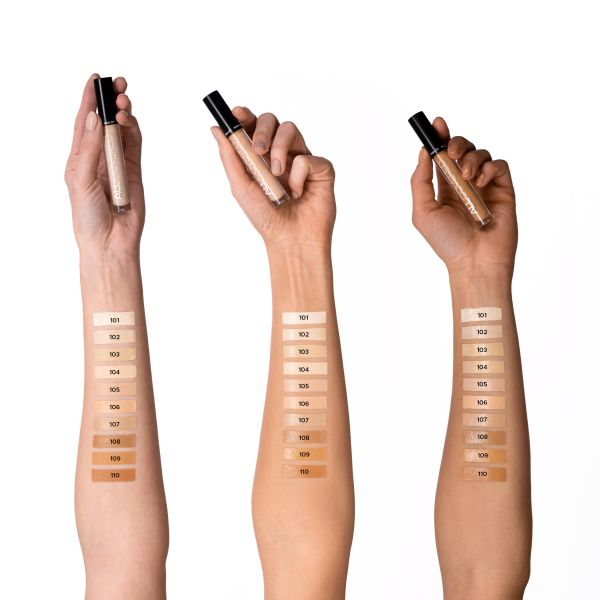 INGLOT COSMETICS CANADA all covered Under Eye CONCEALERS all swatches