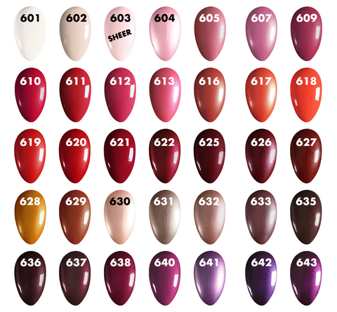 O2M Breathable Nail Enamel Swatches