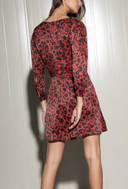 Leopard Print Mini Dress - SERRANO