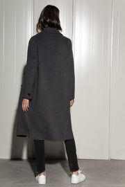 Dark Grey Wool Coat - SERRANO