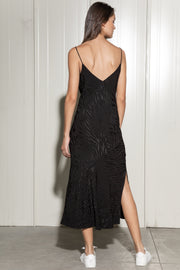Eco Black Slip Dress - SERRANO