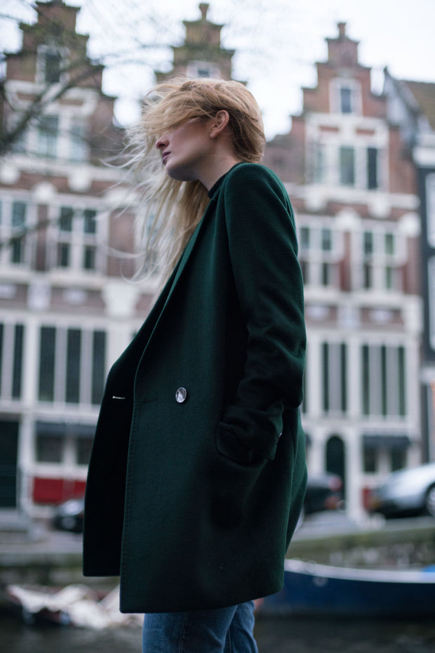Green Wool Coat - SERRANO