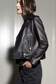 Leather Biker Jacket - SERRANO