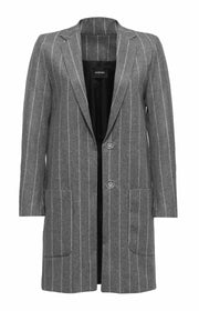 Bianca Striped Wool Jacket - SERRANO