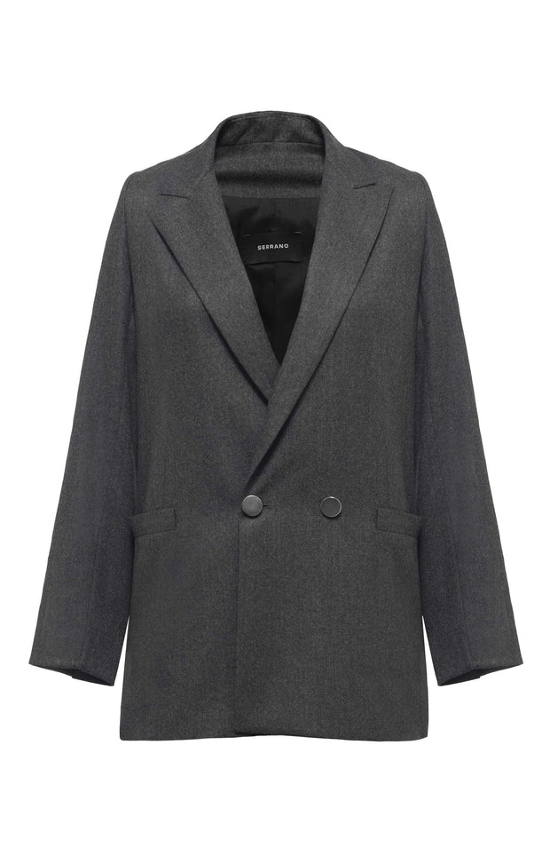 Double breasted grey blazer - SERRANO
