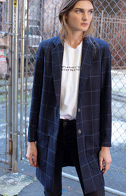 Checked wool jacket - SERRANO