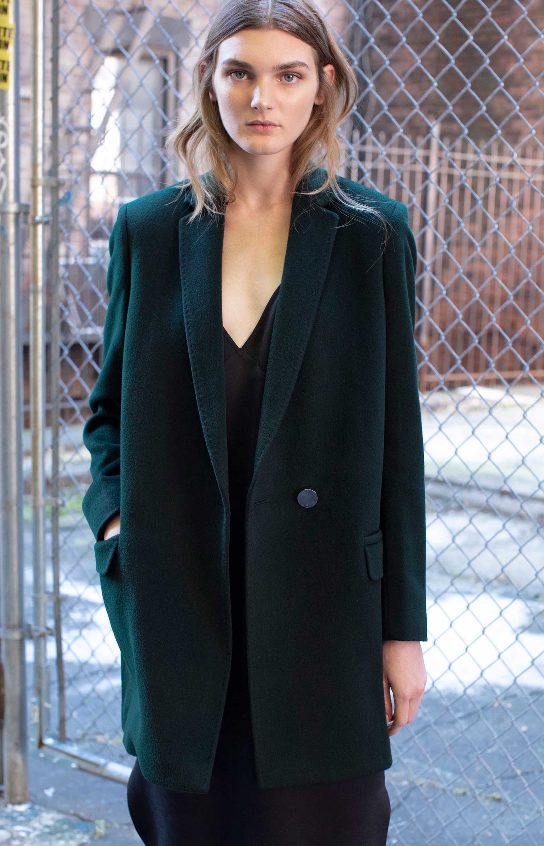 Ana Wool Coat - Green