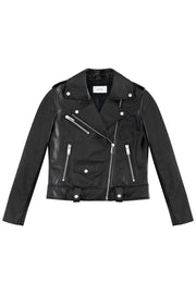 Black Leather Jacket - SERRANO