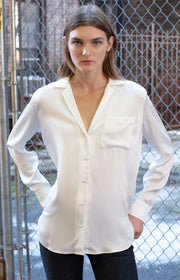 White silk shirt - SERRANO