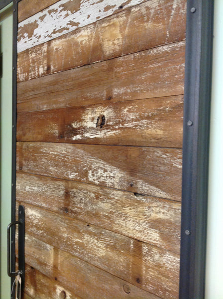 Reclaimed Wood & Metal Sliding Door