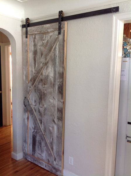 Custom Door on Metal Track (price starting at $750)