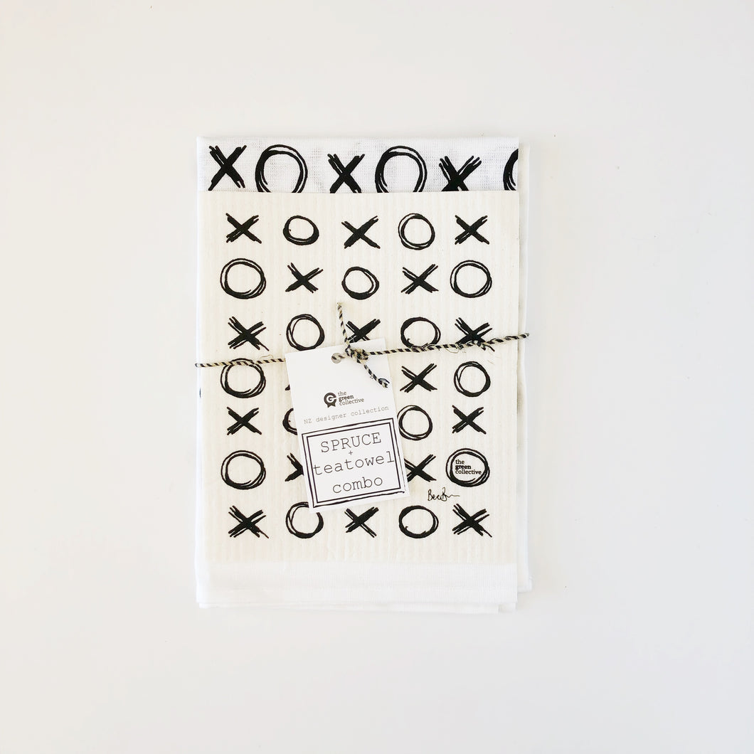 XOXO SET - SPRUCE + Tea Towel