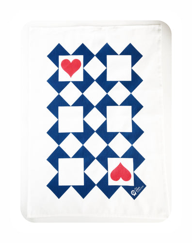 Ace Of Hearts Tea Towel by The Green Collective (50% Linen)