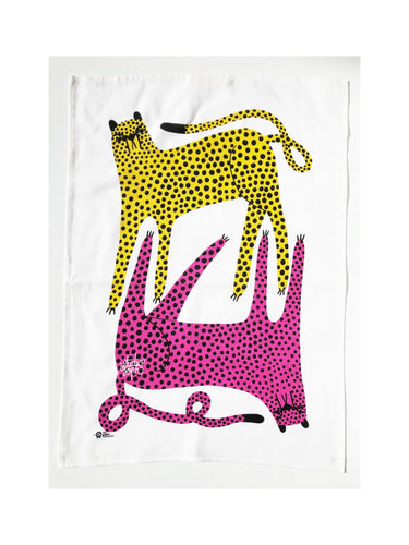 Cheetah Tea Towel by Studio Soph (50% Linen)