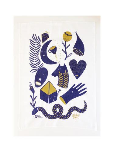 Mystic Stories Tea Towel by Studio Soph (50% Linen)