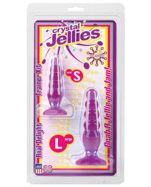 Crystal Jellies Anal Delight Trainer Kit - Purple