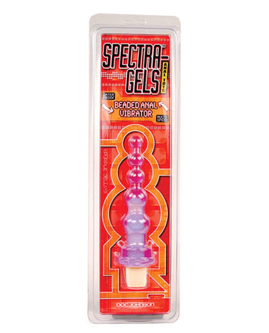 Spectra Gels Beaded Anal Vibrator - Purple