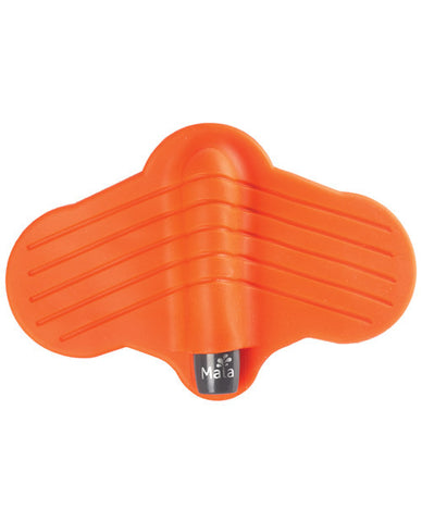 Maia Ray Silicone Vibrating Stroker - Grey-orange
