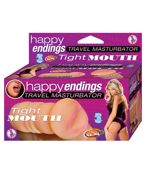 Happy Ending Travel Masturbator Tight Mouth - Flesh