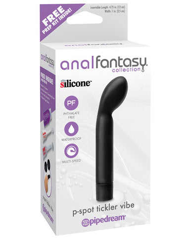 Anal Fantasy Collection P Spot Tickler Vibe - Black