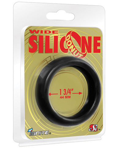 Ignite Wide 1.75 In. Silicone Donut - Black