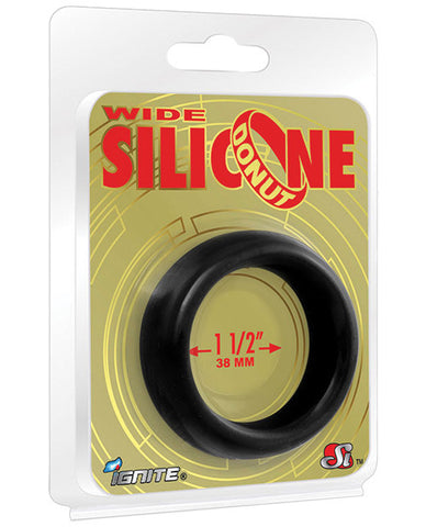 Ignite Wide 1.5 In. Silicone Donut - Black