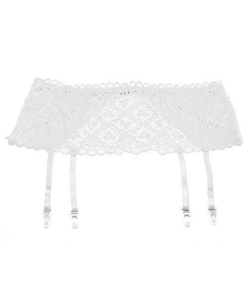 Stretch Lace 5 Inch Band Garter White 1x-2x