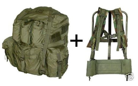 O.D. Large Alice Pack with Frame and Straps (Used) | G.I. JOES