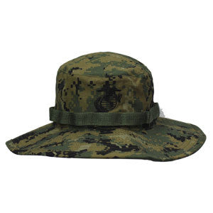 Eagle, Globe, and Anchor Woodland Digital Boonie Cover - G.I. JOES