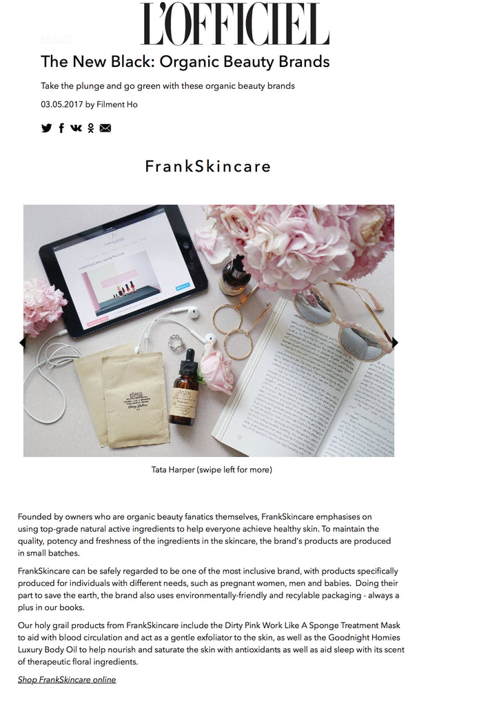 L'officiel frankskincare