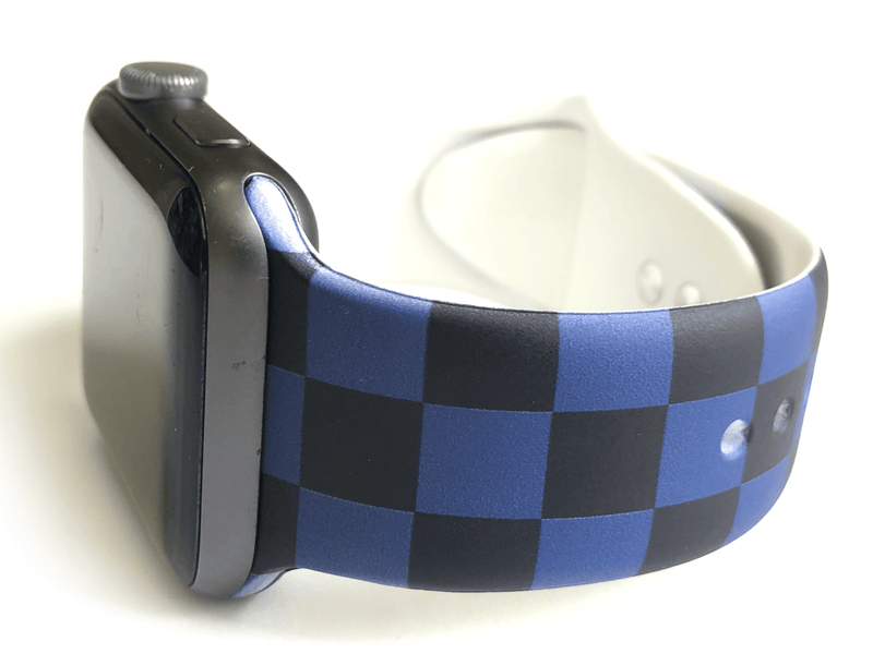Black and Blue Checkered Watch Band