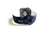 Blue and Black Checkered Watch band
