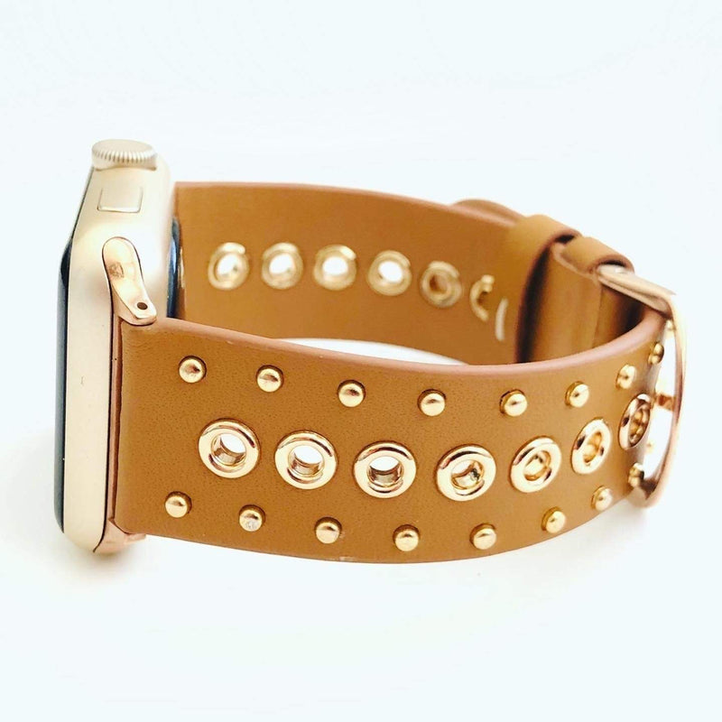 The Rivets and studs in Tan