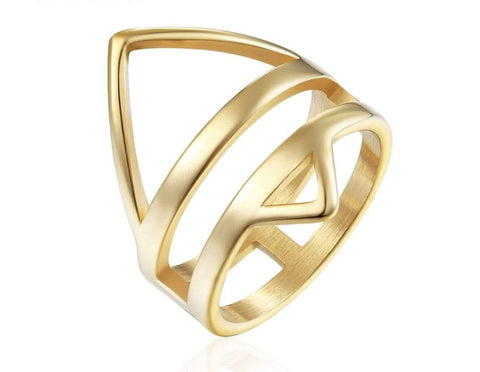 Double Arrow Gold Ring