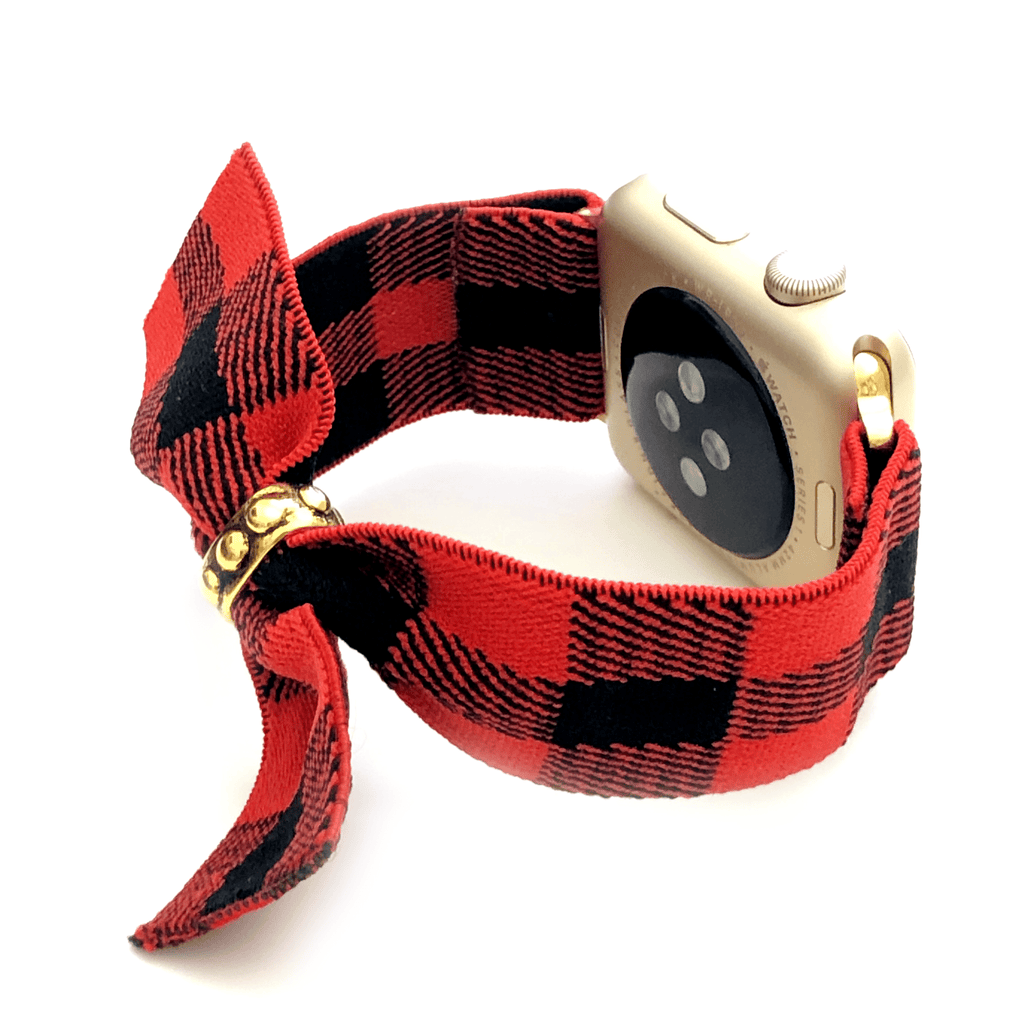 The Red and Black Buffalo Plaid Band