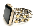 "The Designer Apple Watch Band consists of soft leather woven through hypo-allergenic stainless steel chains give us all 'The Designer' feels possible! Available in 6 colors Fits wrist Sizes: 5.5""- 7.5"""