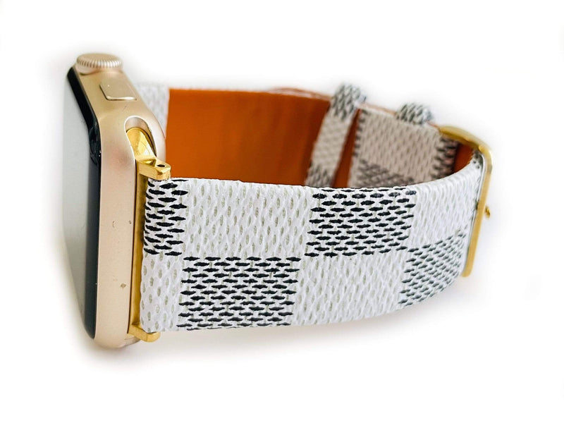The Louie Damier Apple Watch Band