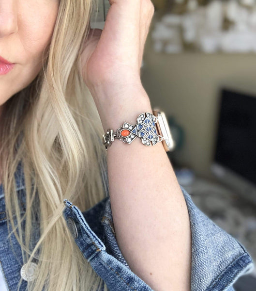 The Tribal Princess Silver Apple Watch Band