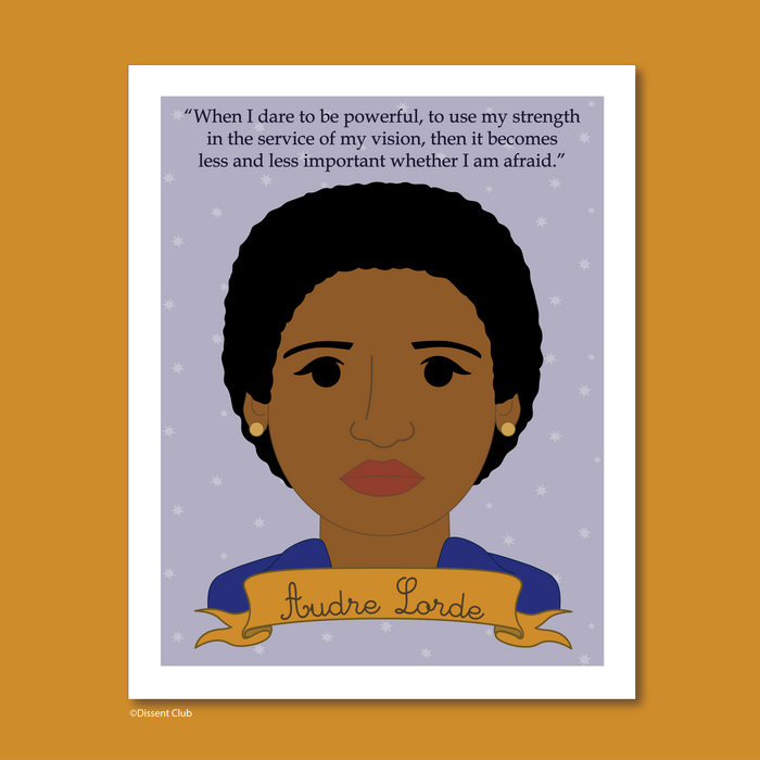 Sheroes Collection Audre Lorde 8x10 Art Print