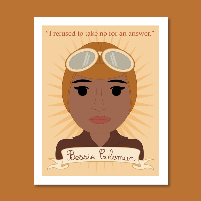 Sheroes Collection: Bessie Coleman 8x10 Art Print